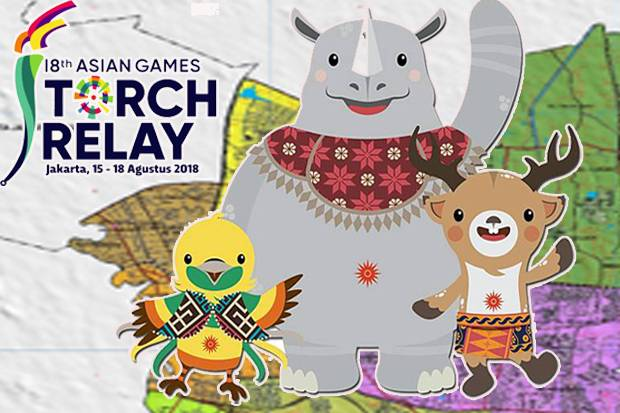Asian Games : Rute Torch Relay 15-18 Agustus 2018